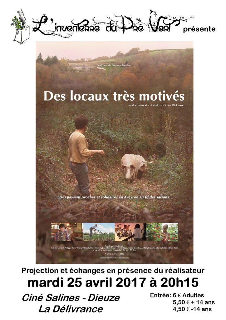 """""""Des locaux très motivés"""" au Ciné Salines de Dieuze le mardi 25 avril"""