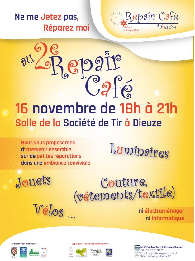 2ème Repair Café à Dieuze, jeudi 16 novembre